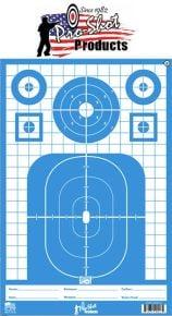 "Pro-Shot 12"" X 18"" SplatterShot Blue Tactical Precision Target Pistol/Rifle/Shotgun - 8 Pack"