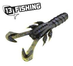 """13 Fishing 3"""" Ninja Tail Craw Black & Tan"""