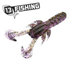 """13 Fishing 3"""" Ninja Tail Craw Pimpin' Purple"""