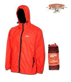 Sportchief - Orange, Men - Packable Raincoat