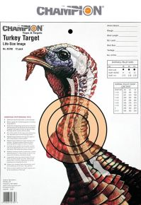 "Champion Turkey 13"" x 10"" Targets (10 pack)"