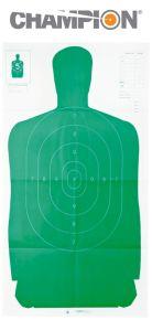 "Champion B-27 FSA Green Silhouette 45"" x 24"" Targets (10 packs)"