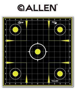 Allen EZ-Aim Non-Adhesive Splash Sight In Grid Targets x 12