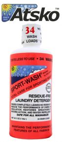 SPORT-WASH - ALL SPORTS LAUNDRY DETERGENT - 1 LITER (34 WASH LOADS)
