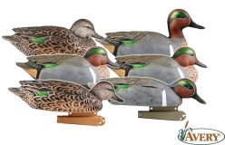 Avery-Pro-Grade-Green-Winged-Teal-pack-6-Duck-Decoys