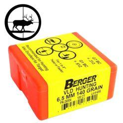 Boulets-6mm/.243''-CAL-VLD-95gr-Berger-Bullets