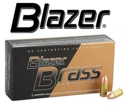 Blazer Brass 9mm 115 gr.  Case of Ammunitions