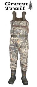 Green Trail Neoprene Camo Bootfoot Chest Waders