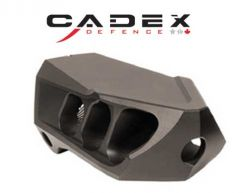 Cadex MX1 Mini 6.5 Cal 5/8-24 Black Muzzle Brake