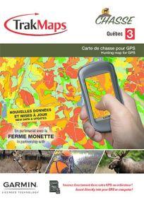 TrakMaps Hunting Quebec 3 for Gamin GPS