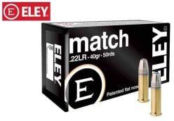 Munitions Eley Match 22 LR 40 gr