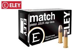 Munitions Eley Match Pistol 22 LR 40 gr