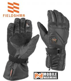 Fieldsheer Storm Black Unisex 7.4V Heated Storm Gloves