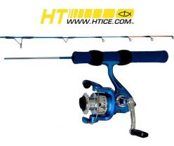 Hi-Tech Fishing IB-24SC 24'' Ice Blue Rod with Reel