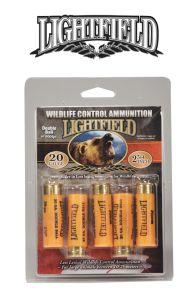 Munitions 20ga. 2 3/4'' pour le contrôle de la faune de Lightfield