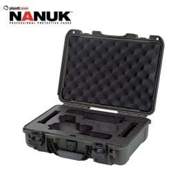 Nanuk-910-Glock-2Up-Olive-Pistol-Case