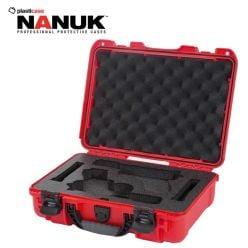 Nanuk-910-Glock-2-Up-Red-Pistol-Case