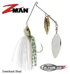 SlingBladeZ™ Double Willow Spinnerbait 3/8 oz Greenback Shad