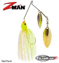 SlingBladeZ™ Double Willow Spinnerbait 3/8 oz Red Perch