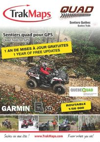 Trak Maps ATV Quebec For Garmin GPS