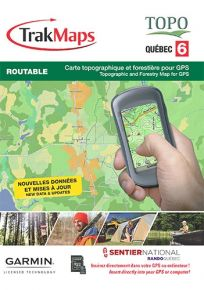 Trak Maps TOPO Quebec 6 For Garmin GPS