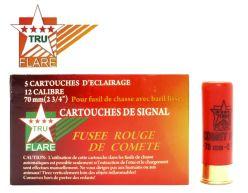 Tru Flare 12 Gauge 2 3/4'' Comet Red Flash