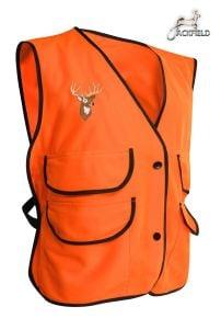 Jackfield Fluorescent Orange Fleece Deer Vest