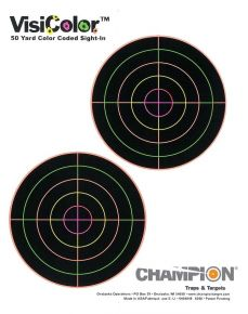 Champion Visicolor Sight-In Adhesive Targets 10/pkg